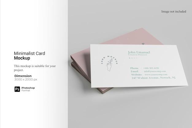 Minimalistyczny projekt makiety wizytówki