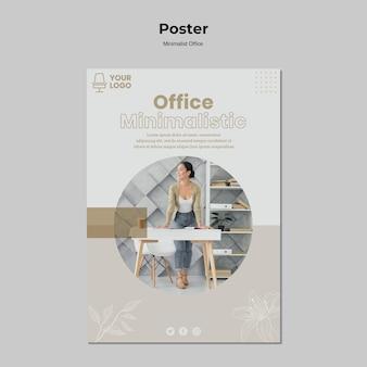 Minimalistyczny projekt plakatu do biura