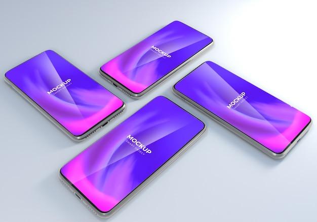 Minimalistyczny realistyczny projekt makiety smartfona