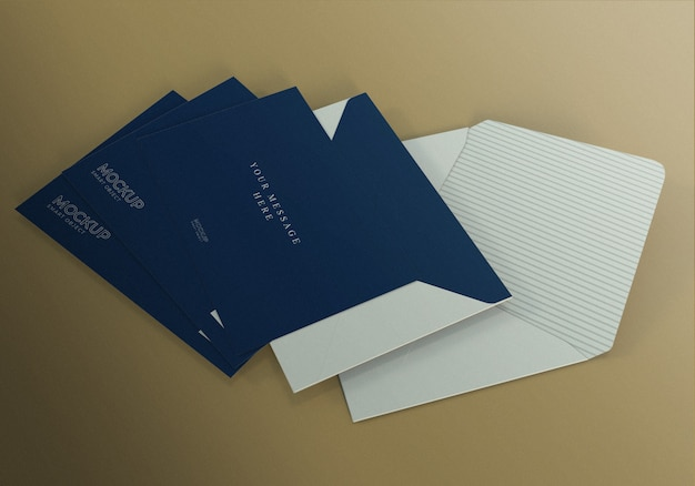 Minimalistyczny realistyczny szablon makieta koperty