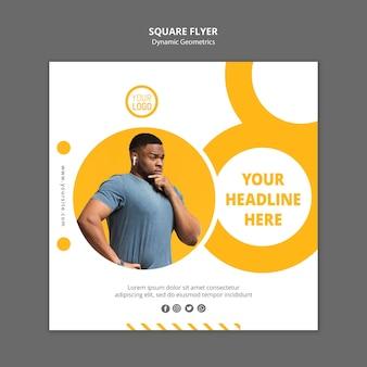 Minimalistyczny szablon reklamy kwadratowej ulotki
