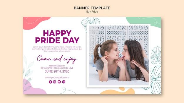 Minimalistyczny szablon transparent dumy gejowskiej