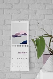 Minimalistyczny układ kalendarza makiety