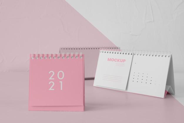 Minimalna aranżacja makiety kalendarza