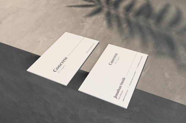 Minimalna karta z makietą cienia liści w renderowaniu 3d