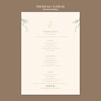 Minimalna koncepcja plakatu ślubnego