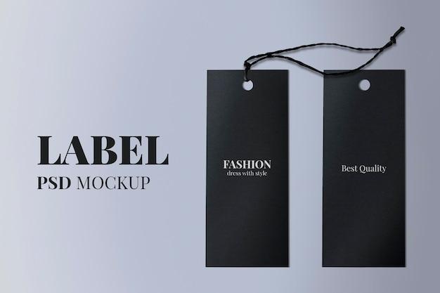 Minimalna makieta etykiety odzieżowej psd dla marek modowych