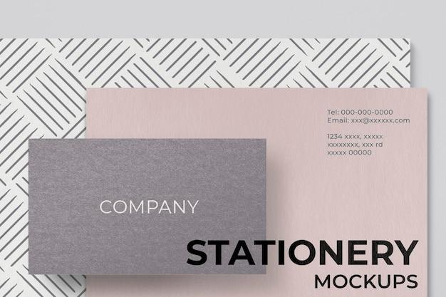 Minimalna makieta tożsamości korporacyjnej psd zestaw papeterii marki