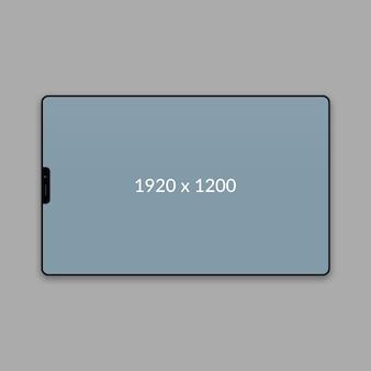 Minimalna makieta web krajobrazu