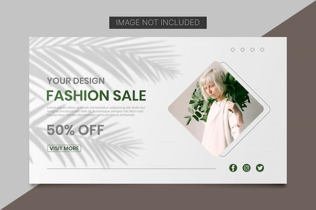 Minimalna moda sprzedaż transparent