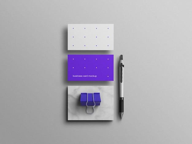 Minimalna niebieska makieta wizytówki