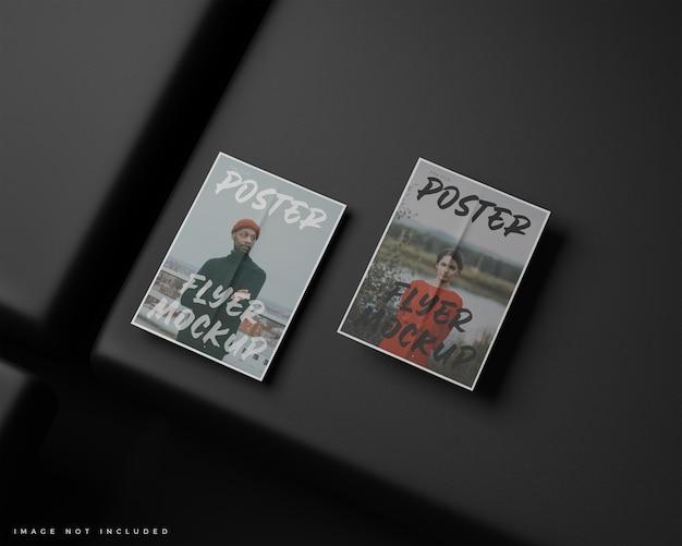 Minimalna ulotka a4, makieta plakatu