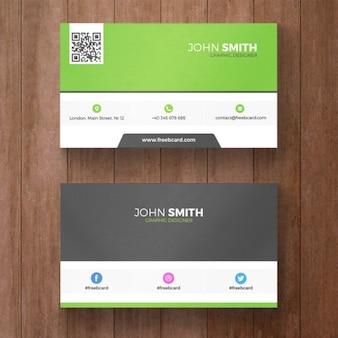 Minimalna wizytówka szablon zielony