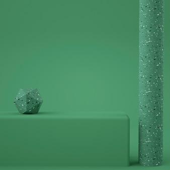 Minimalne nowoczesne podium z marmurowym renderowaniem 3d lastryko