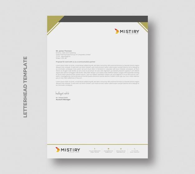 Minimalny papier firmowy stacjonarny szablon projektu