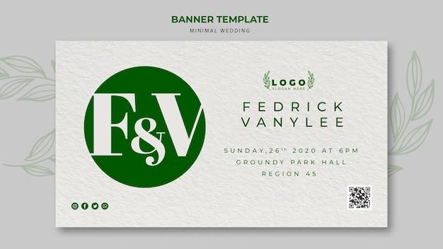 Minimalny ślub zapisać datę banner