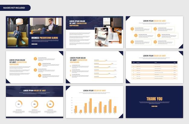 Minimalny suwak prezentacji dla szablonu biznesowego i początkowego