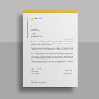Minimalny szablon papieru firmowego