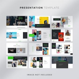 Minimalny szablon prezentacji mody