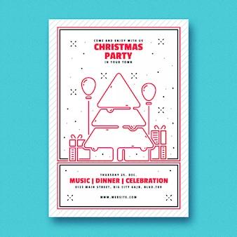 Minimalny szablon świątecznych ulotek
