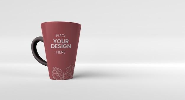Minimalny układ kubków do kawy z miejscem na kopię