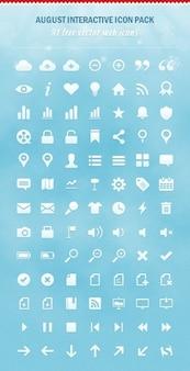 Minimalny zestaw ikon web psd