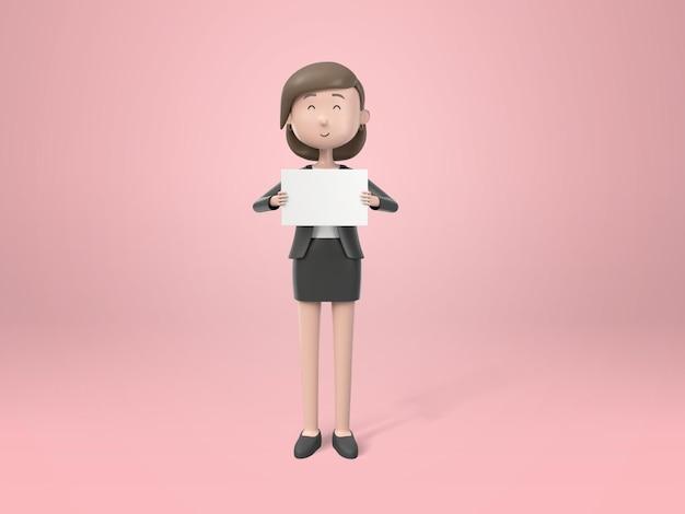 Młoda kobieta interesu w garniturze z papierkową robotą