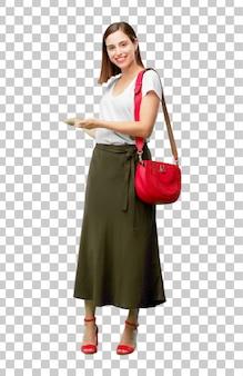 Młoda ładna i elegancka kobieta wyciąć gotowy do umieszczenia w swoim