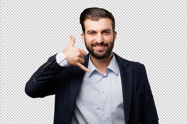 Młody biznesmen z raportem