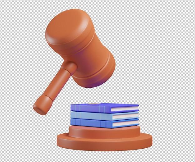 Młot prawa ilustracja 3d