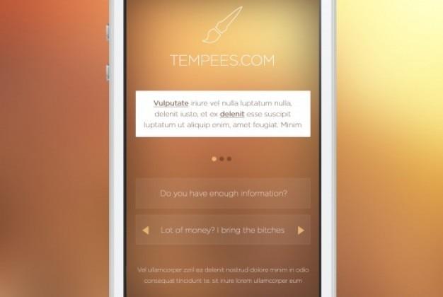 Mobile ekran przedni z bloku tekstu