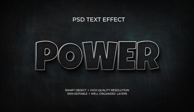 Moc 3d efekt tekstowy szablonowy