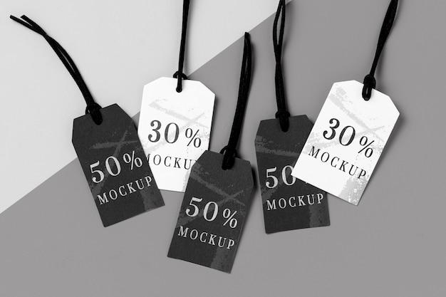 Mock-up rozmieszczenie metek odzieżowych