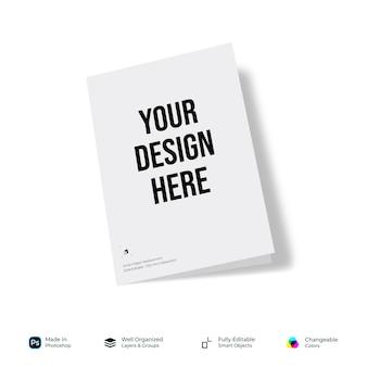 Mockup cover page broszura składana na pół lub na pół