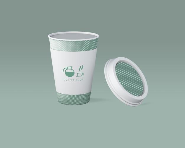 Mockup papierowy kubek kawy