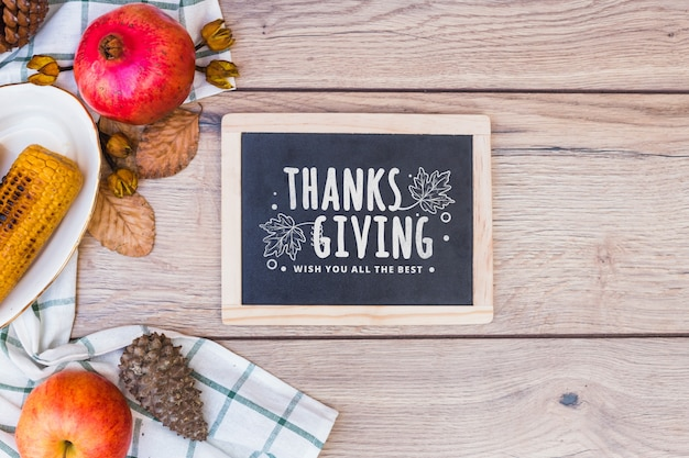 Mockup święto dziękczynienia z łupków