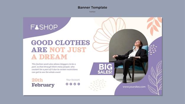 Moda duży szablon transparentu sprzedaży