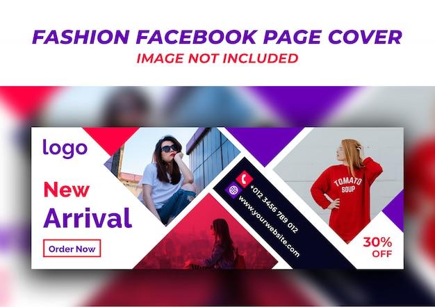 Moda na okładce strony na facebooku