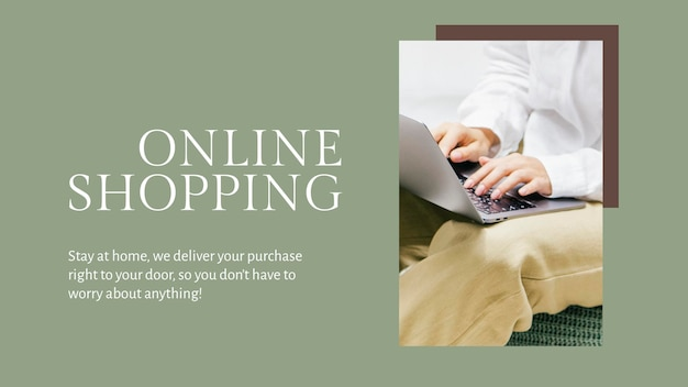 Moda na zakupy online szablon psd na baner bloga
