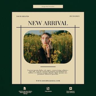 Moda new arrival sprzedaż szablonów mediów społecznościowych