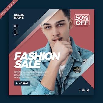 Moda sprzedaż baner społecznościowy