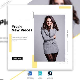Moda sprzedaż szablon mediów społecznościowych premium psd