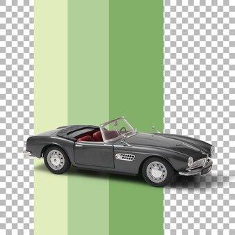Model samochodu na białym tle klasyka