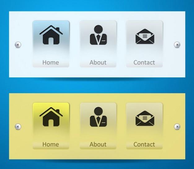 Modern web z ikon menu