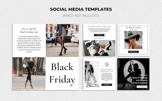 Modowe szablony mediów społecznościowych