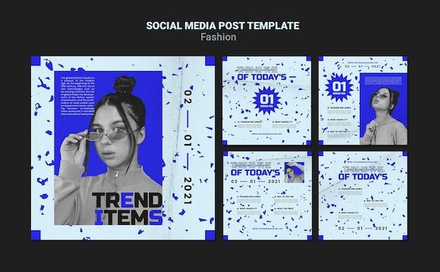 Modowy post w mediach społecznościowych