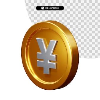 Moneta Jena Renderowania 3d Na Białym Tle Premium Psd