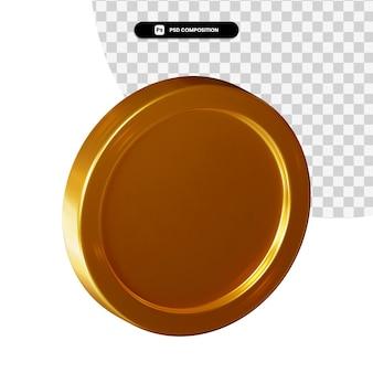 Moneta renderowania 3d na białym tle