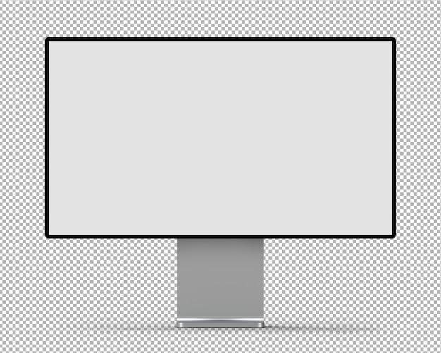 Monitor 3d na białym tle.