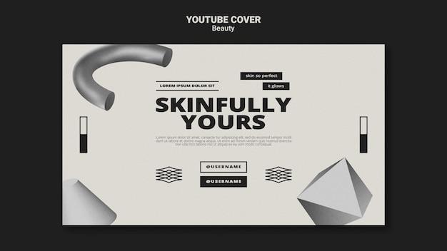 Monochromatyczna okładka youtube do pielęgnacji skóry